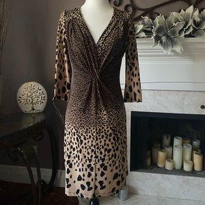 Suzy Shier Leopard Print Dress, Size M